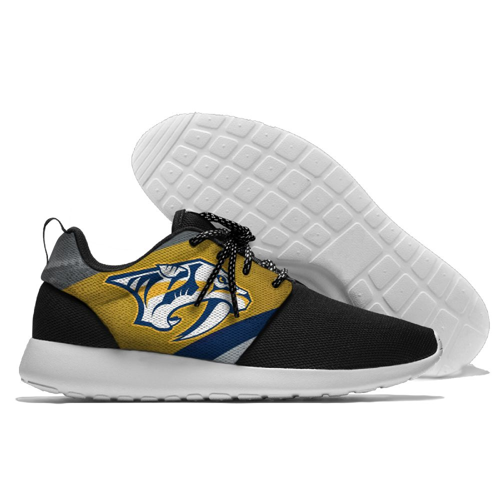 Men NHL Nashville Predators Roshe style Lightweight Running shoes 9
