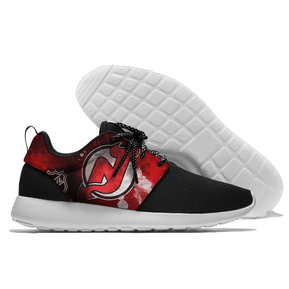 Men NHL New Jersey Devils Roshe style Lightweight Running shoes 3