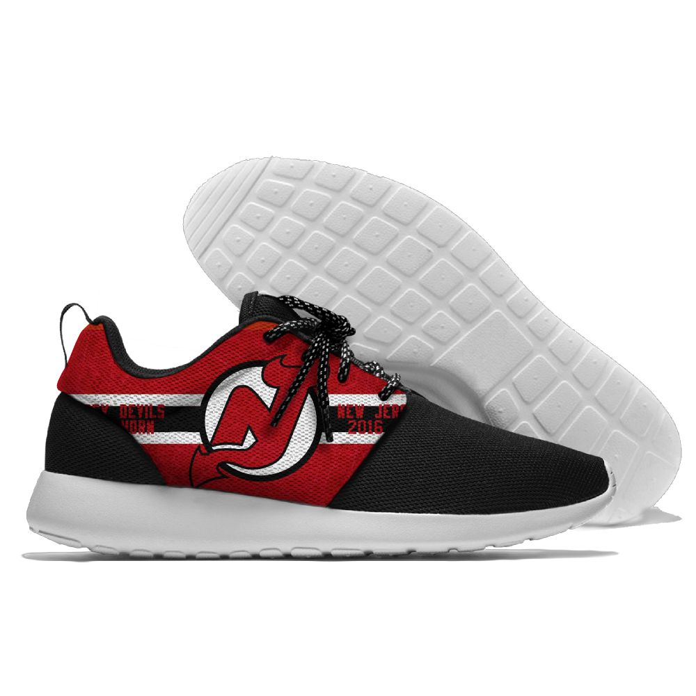 Men NHL New Jersey Devils Roshe style Lightweight Running shoes 8