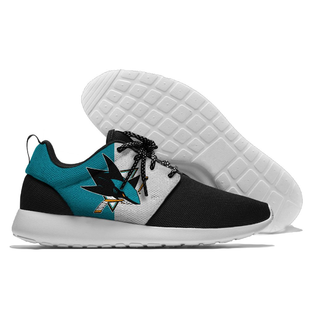 Men NHL San Jose Sharks Roshe style Lightweight Running shoes 1