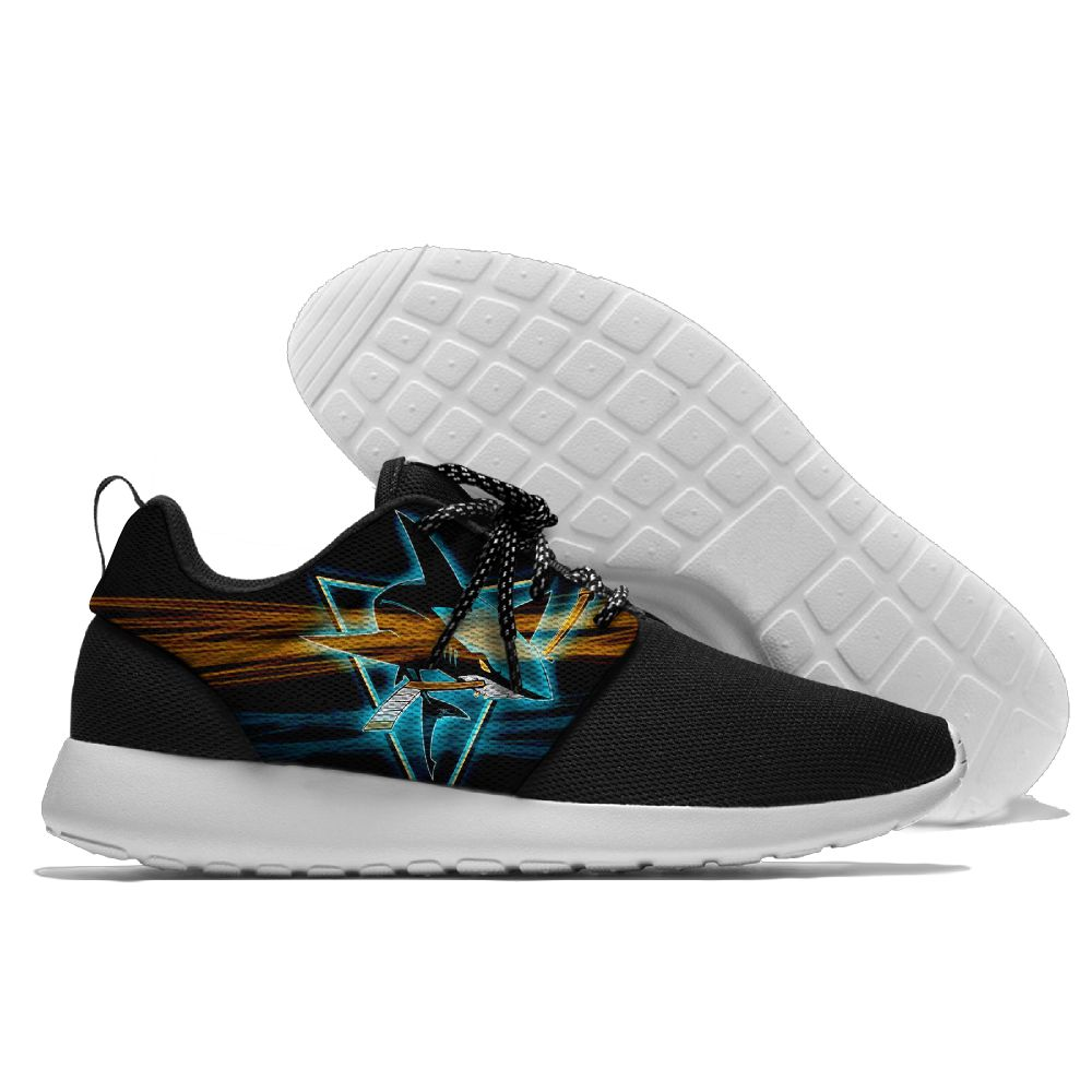 Men NHL San Jose Sharks Roshe style Lightweight Running shoes 12