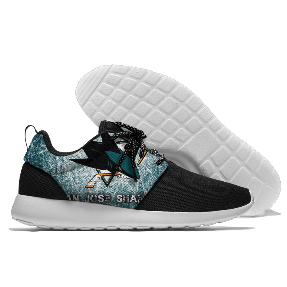 Men NHL San Jose Sharks Roshe style Lightweight Running shoes 13