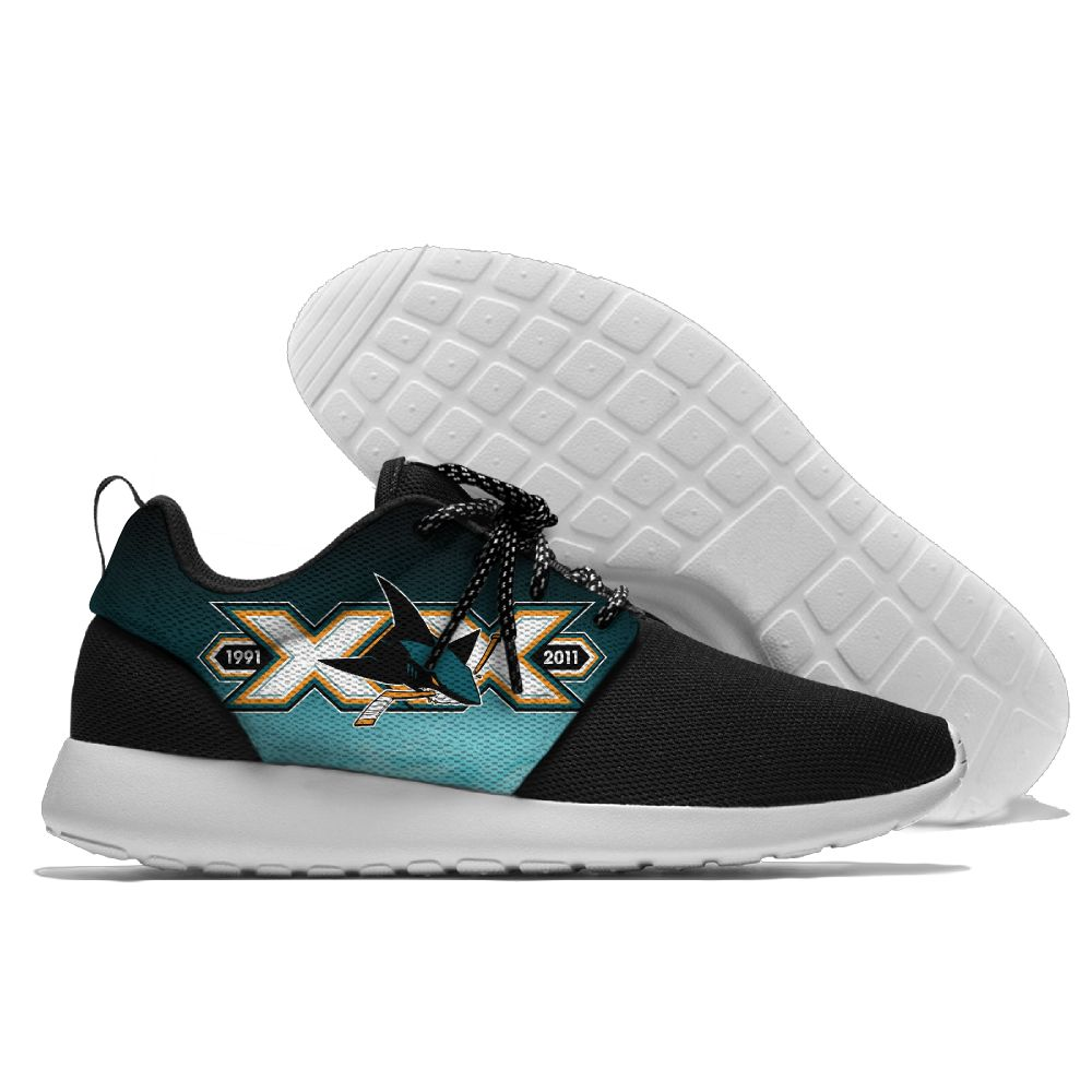 Men NHL San Jose Sharks Roshe style Lightweight Running shoes 15