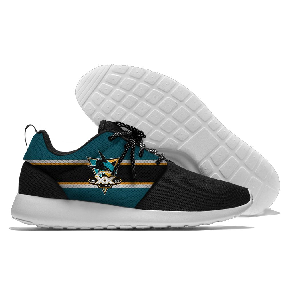 Men NHL San Jose Sharks Roshe style Lightweight Running shoes 16