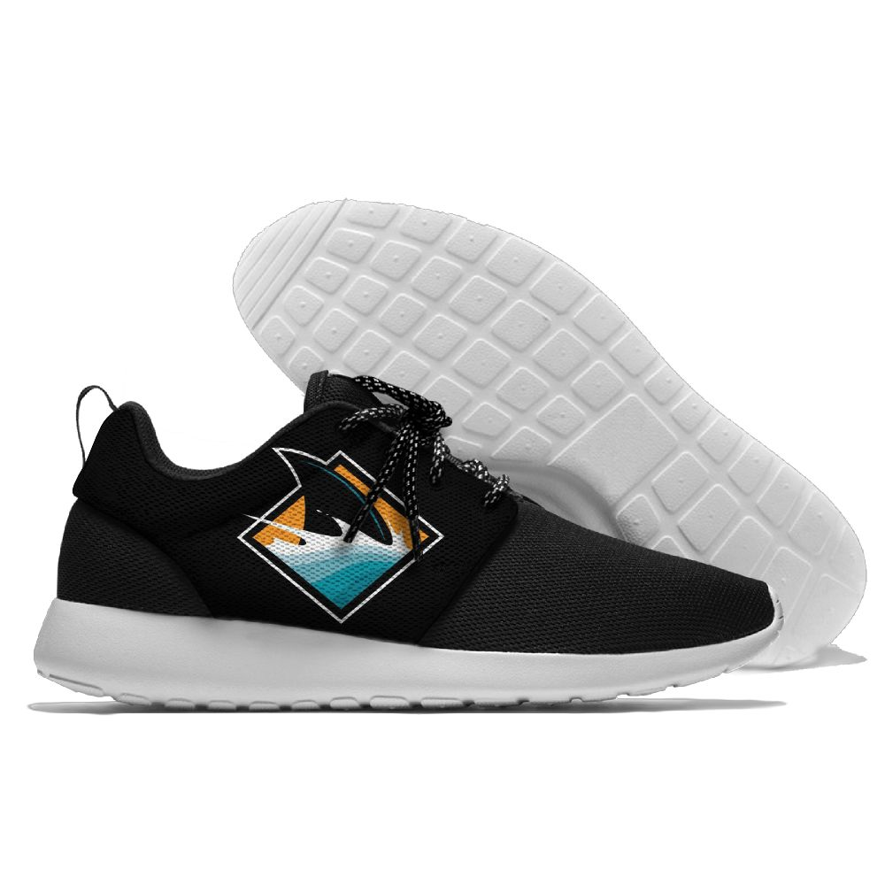 Men NHL San Jose Sharks Roshe style Lightweight Running shoes 3