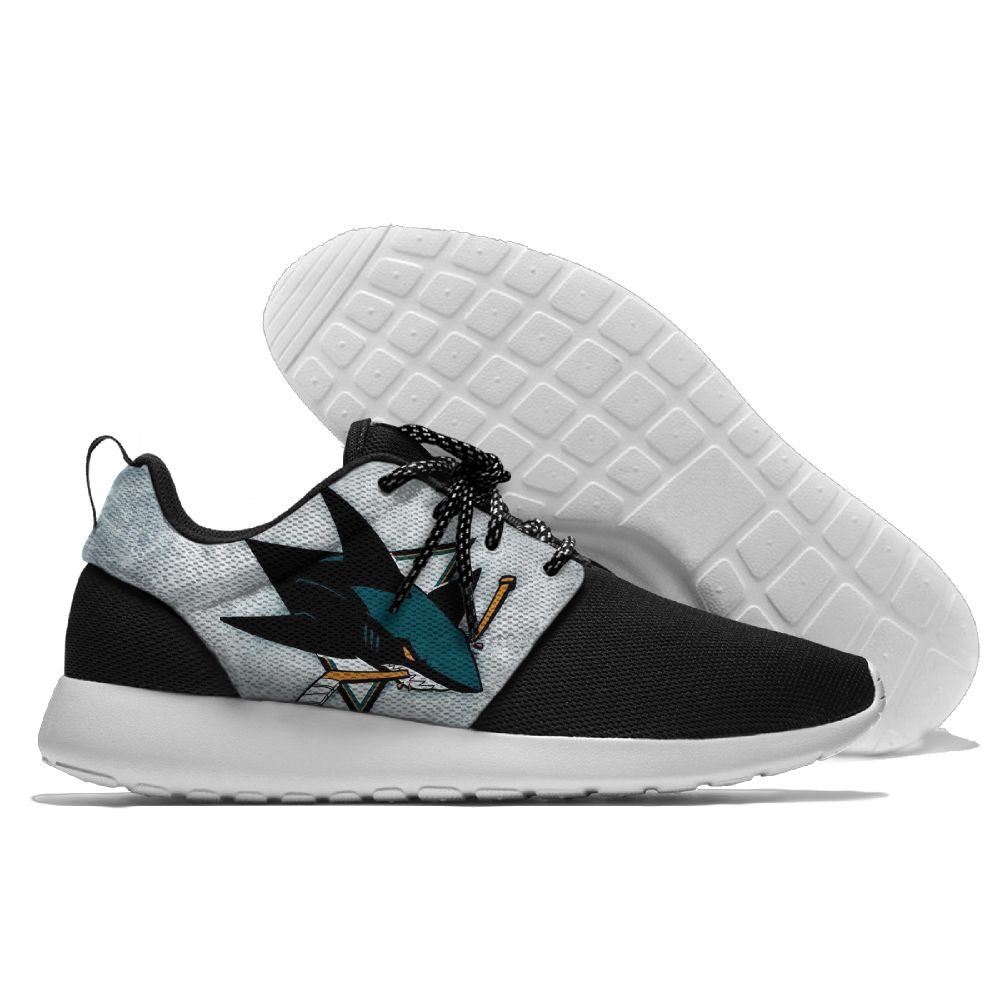 Men NHL San Jose Sharks Roshe style Lightweight Running shoes 6