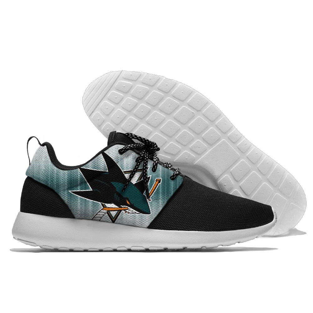 Men NHL San Jose Sharks Roshe style Lightweight Running shoes 7