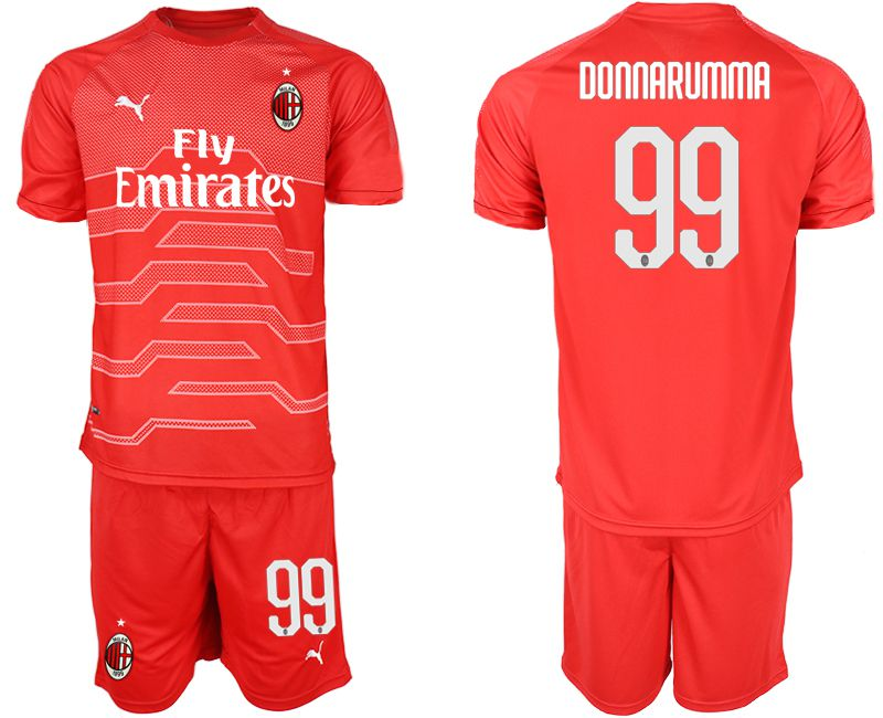 Men 2018-2019 club AC Milan red goalkeeper 99 Soccer Jerseys