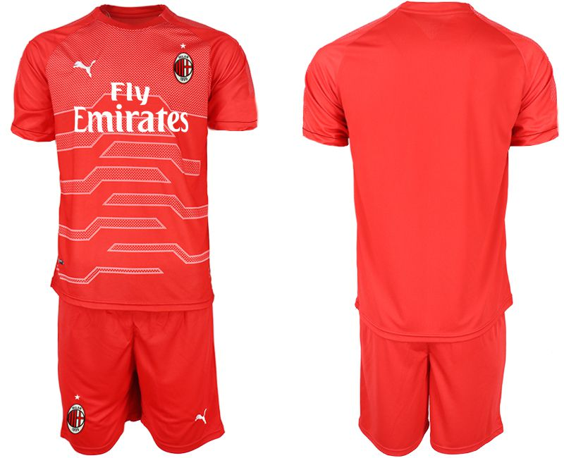 Men 2018-2019 club AC Milan red goalkeeper Soccer Jerseys