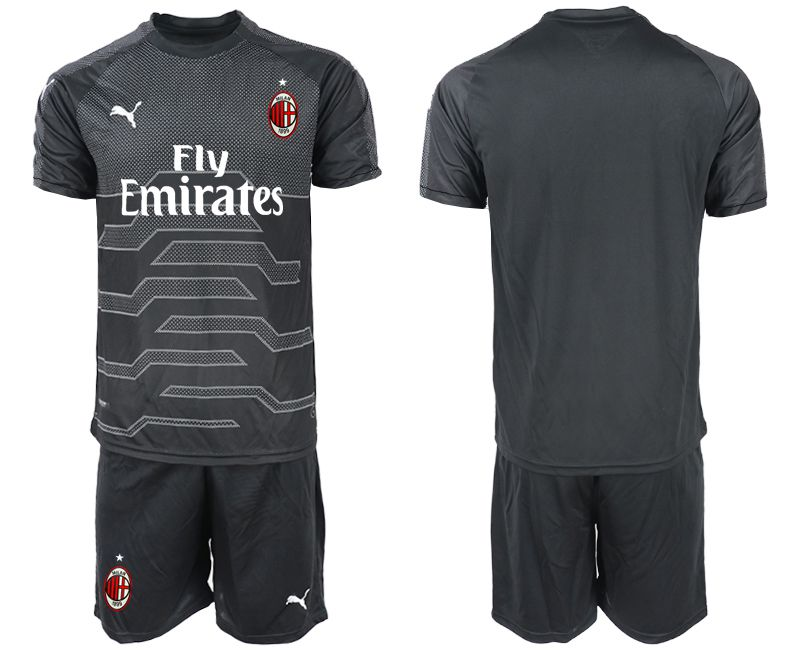 Men 2018-2019 club AC milan black goalkeeper Soccer Jerseys