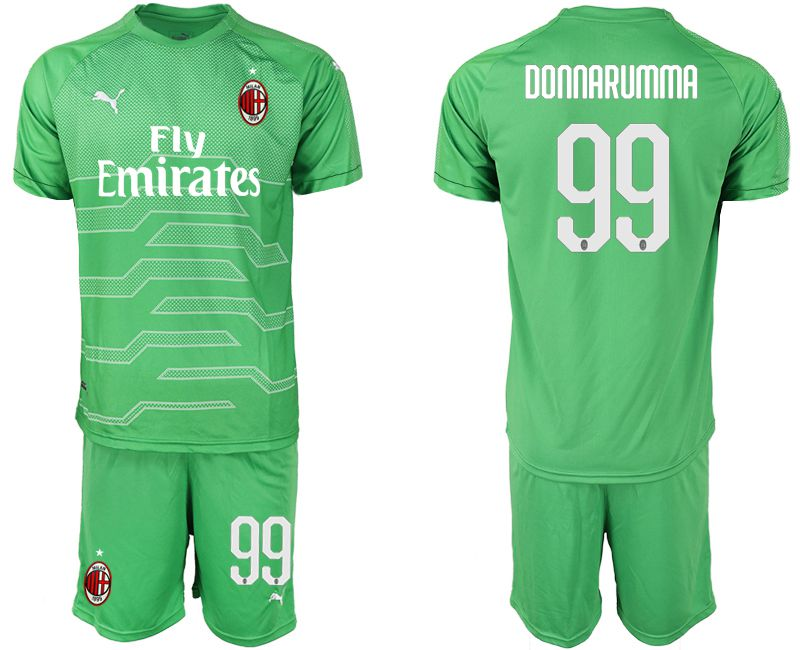 Men 2018-2019 club AC milan green goalkeeper 99 Soccer Jerseys