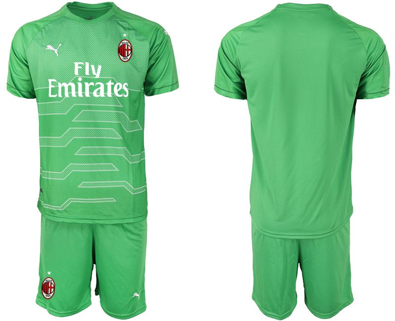 Men 2018-2019 club AC milan green goalkeeper Soccer Jerseys