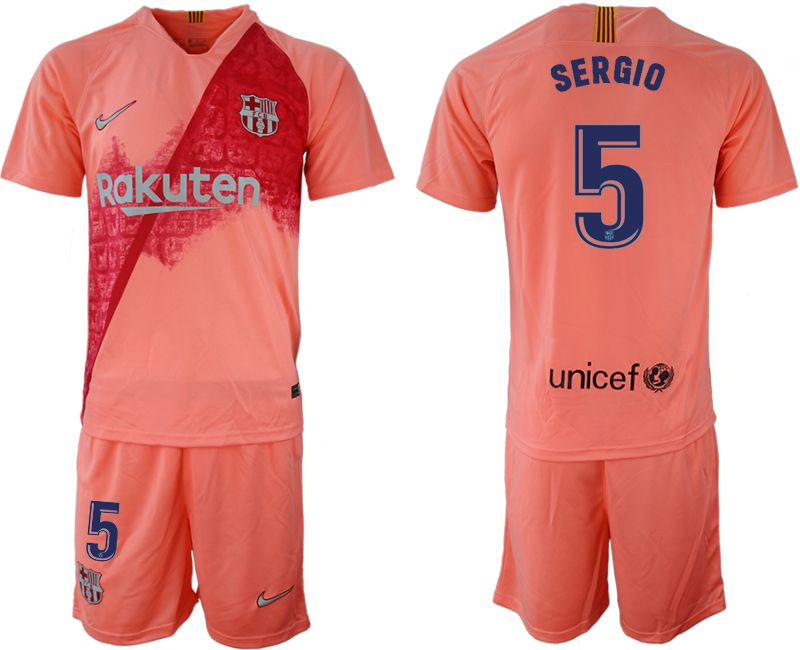 Men 2018-2019 club Barcelona away 5 pink Soccer Jerseys