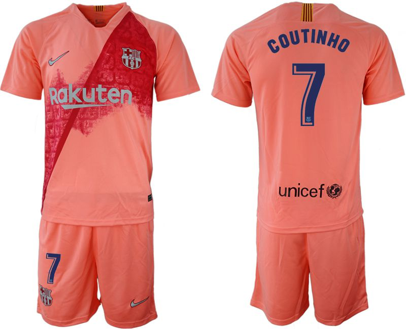 Men 2018-2019 club Barcelona away 7 pink Soccer Jerseys