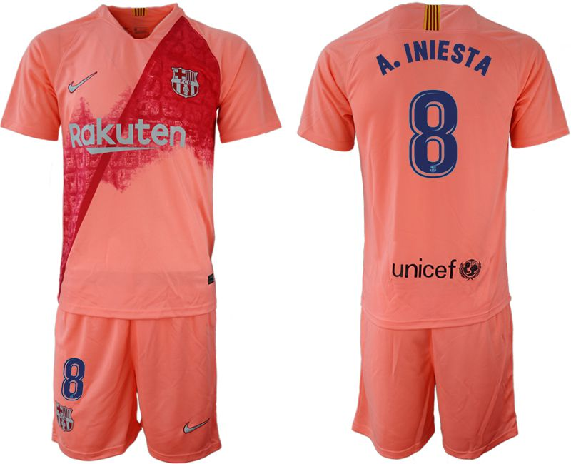Men 2018-2019 club Barcelona away 8 pink Soccer Jerseys