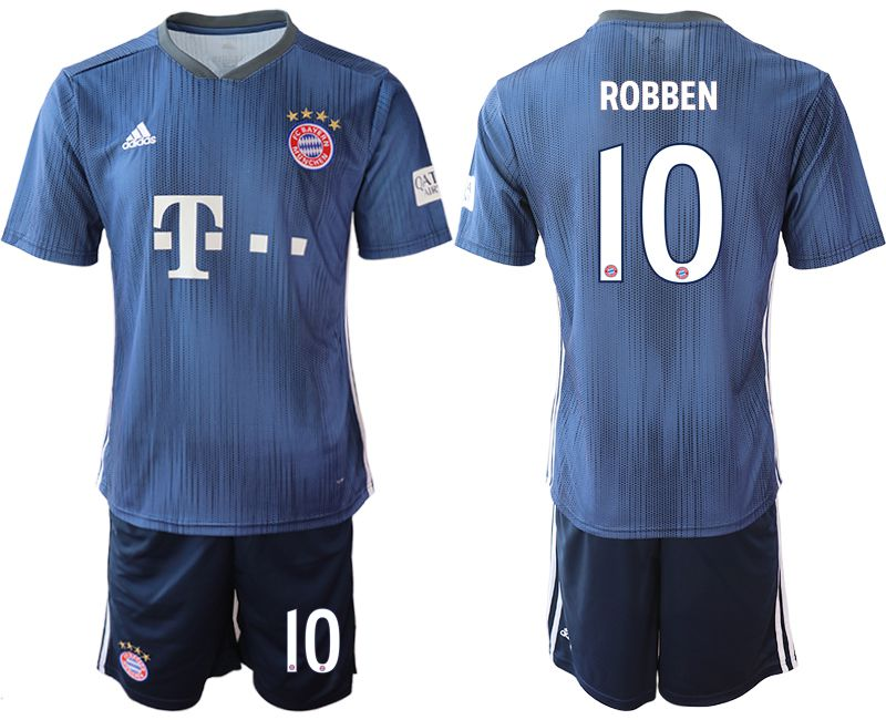 Men 2018-2019 club Bayern Munich away 10 blue Soccer Jerseys