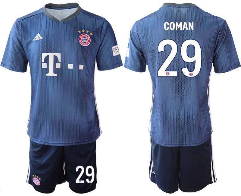 Men 2018-2019 club Bayern Munich away 29 blue Soccer Jerseys