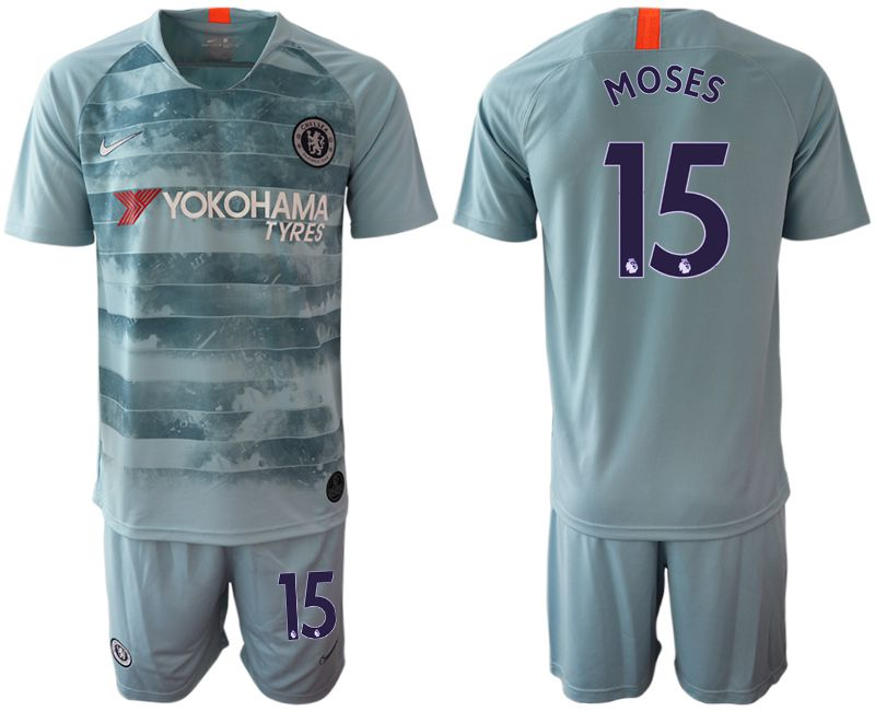 Men 2018-2019 club Chelsea FC away 15 blue Soccer Jerseys