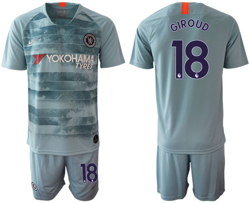 Men 2018-2019 club Chelsea FC away 18 blue Soccer Jerseys