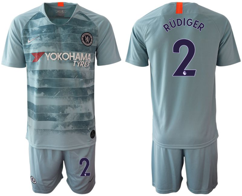Men 2018-2019 club Chelsea FC away 2 blue Soccer Jerseys