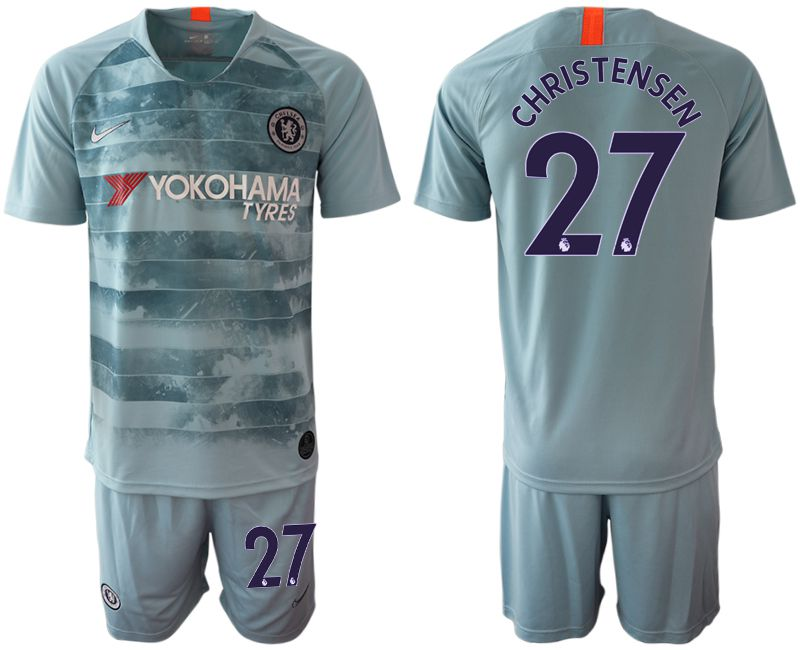 Men 2018-2019 club Chelsea FC away 27 blue Soccer Jerseys