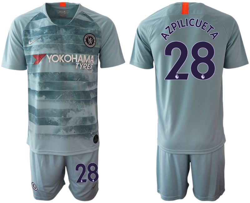 Men 2018-2019 club Chelsea FC away 28 blue Soccer Jerseys