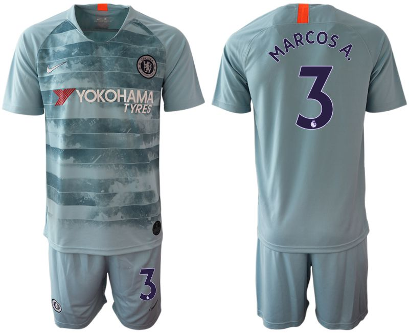 Men 2018-2019 club Chelsea FC away 3 blue Soccer Jerseys