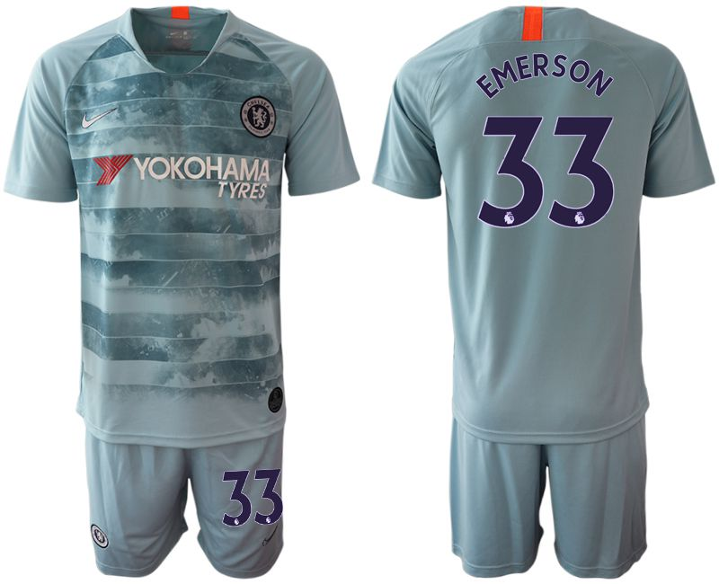 Men 2018-2019 club Chelsea FC away 33 blue Soccer Jerseys