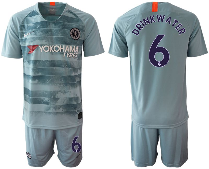 Men 2018-2019 club Chelsea FC away 6 blue Soccer Jerseys