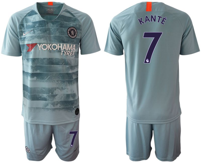 Men 2018-2019 club Chelsea FC away 7 blue Soccer Jerseys