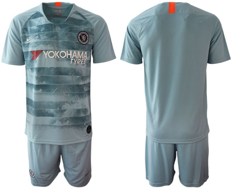 Men 2018-2019 club Chelsea FC away blue Soccer Jerseys