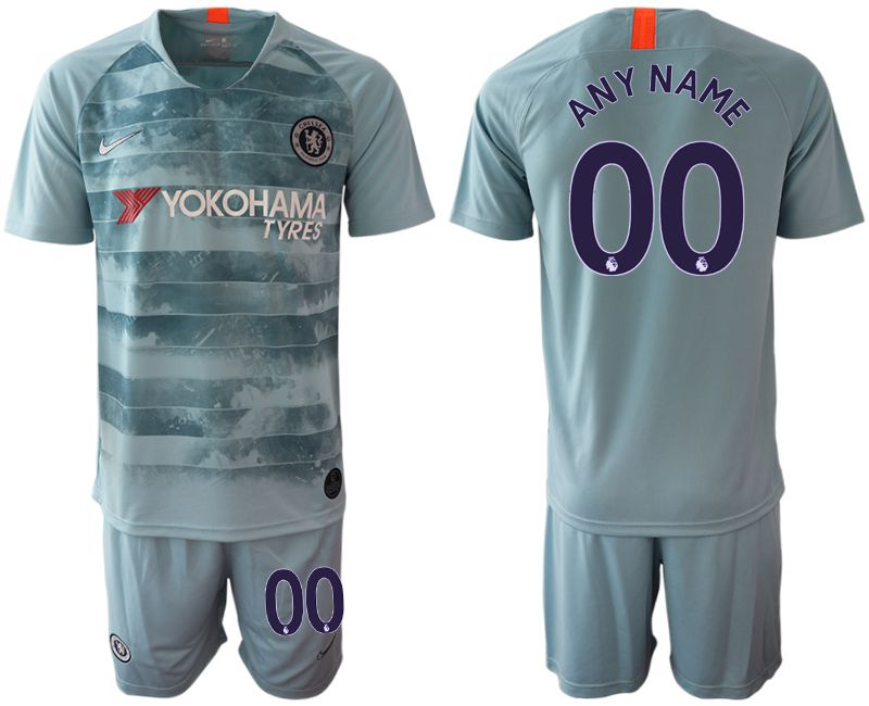 Men 2018-2019 club Chelsea FC away customized blue Soccer Jerseys