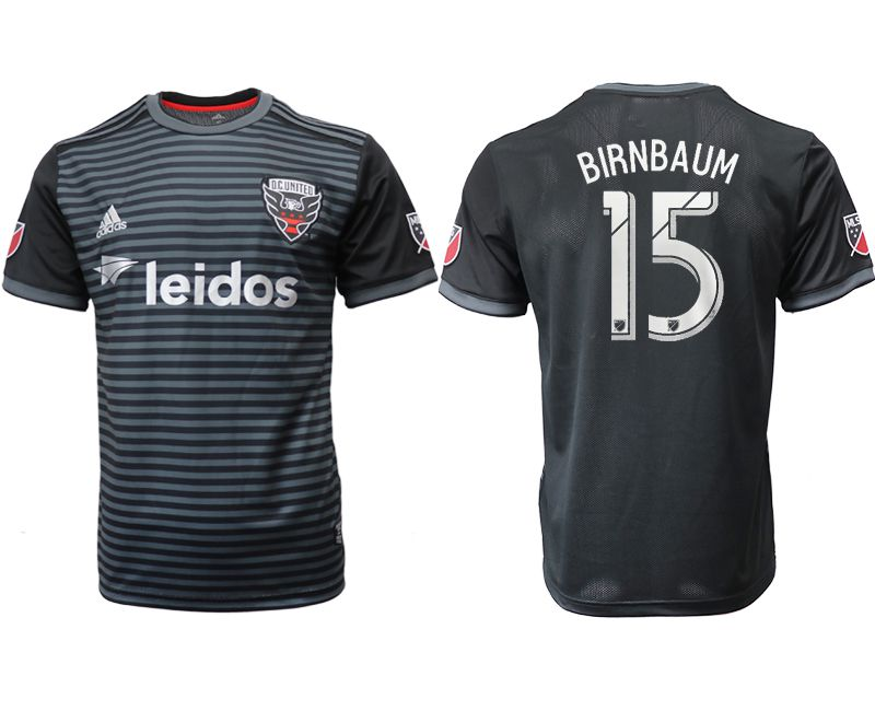 Men 2018-2019 club D.C United home aaa version 15 black Soccer Jerseys