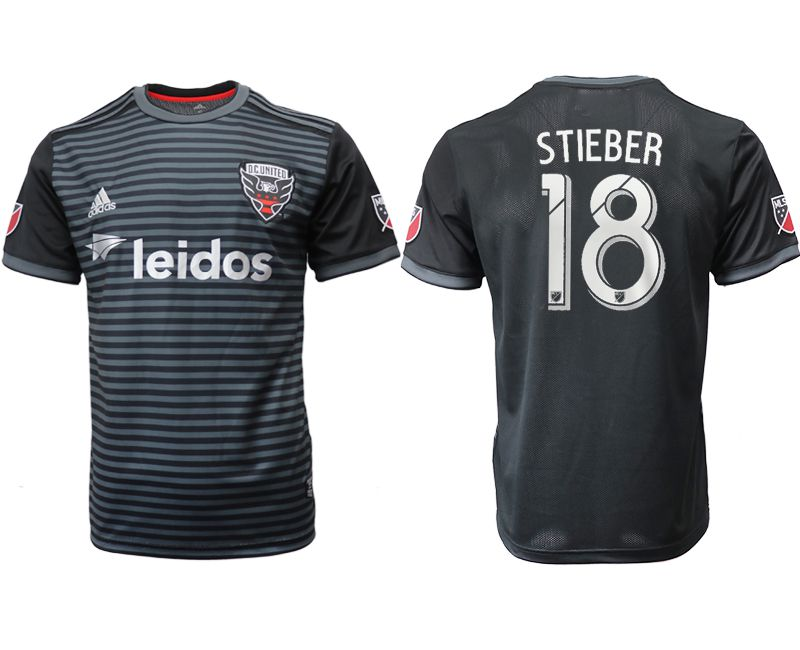 Men 2018-2019 club D.C United home aaa version 18 black Soccer Jerseys