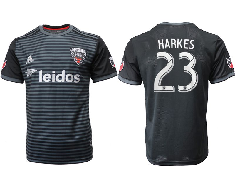 Men 2018-2019 club D.C United home aaa version 23 black Soccer Jerseys