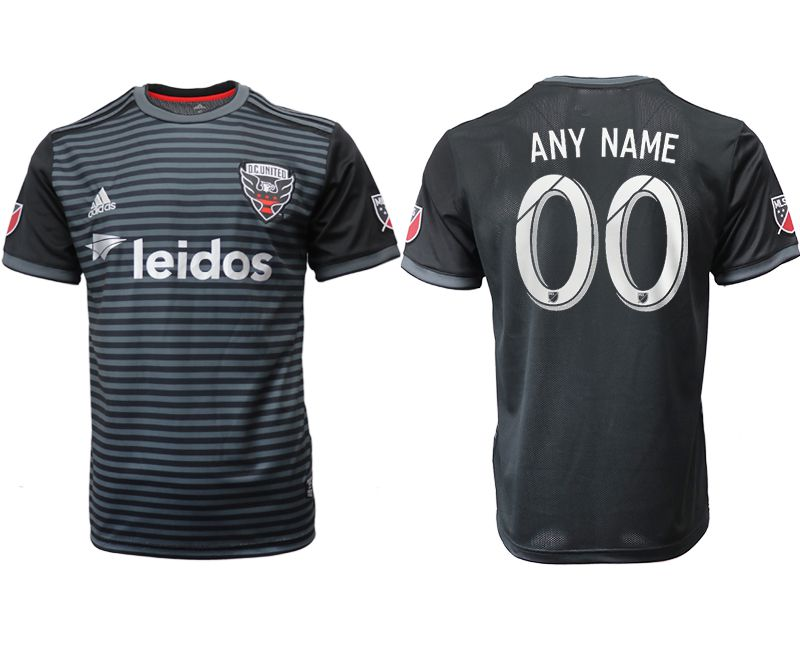 Men 2018-2019 club D.C United home aaa version customized black Soccer Jerseys