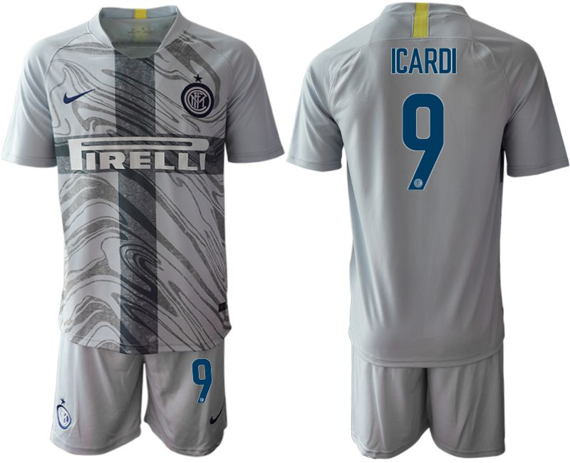 Men 2018-2019 club Inter Milan 16-17 Third 9 grey Soccer Jersey
