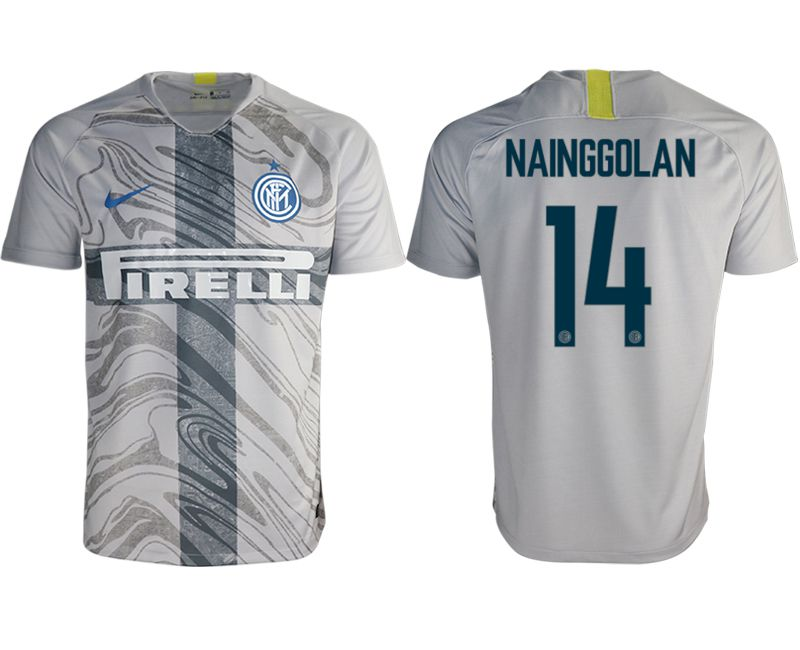 Men 2018-2019 club Inter milan away aaa version 14 grey Soccer Jerseys