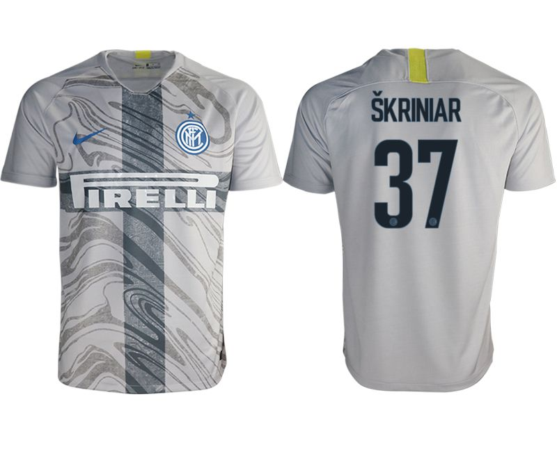 Men 2018-2019 club Inter milan away aaa version 37 grey Soccer Jerseys