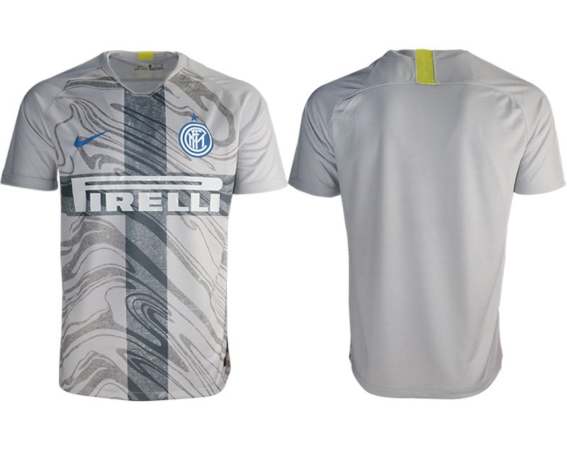 Men 2018-2019 club Inter milan away aaa version grey Soccer Jerseys