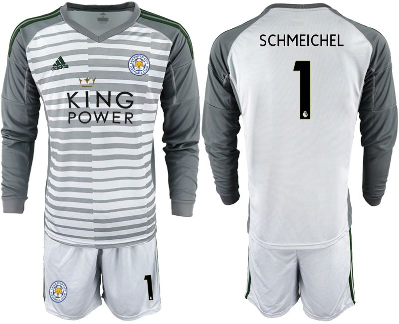 Men 2018-2019 club Leicester City gray long sleeve goalkeeper 1 Soccer Jerseys