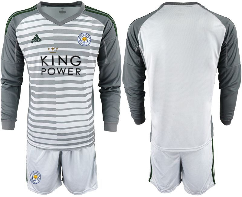 Men 2018-2019 club Leicester City gray long sleeve goalkeeper Soccer Jerseys