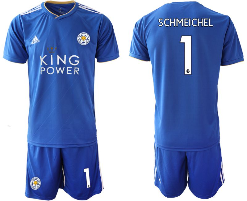 Men 2018-2019 club Leicester City home 1 blue Soccer Jerseys