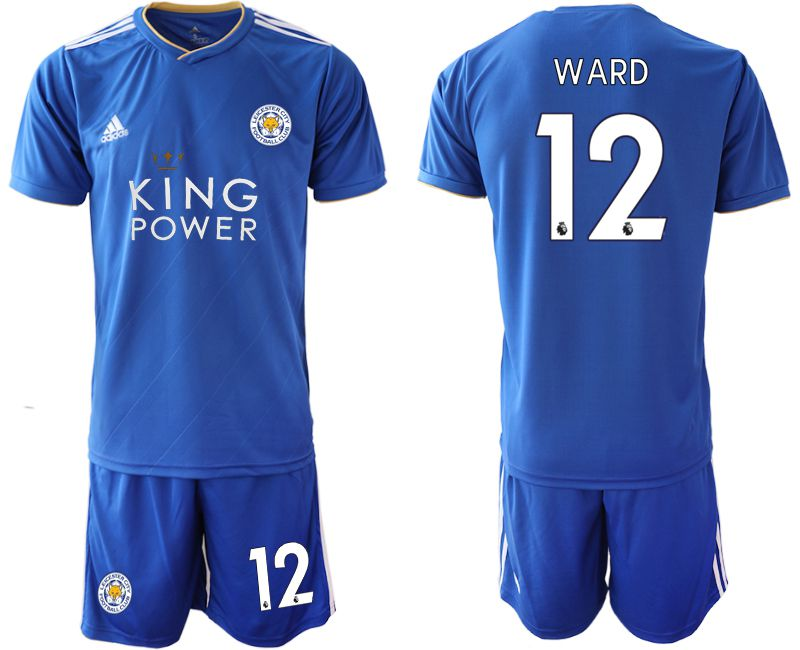 Men 2018-2019 club Leicester City home 12 blue soccer jersey
