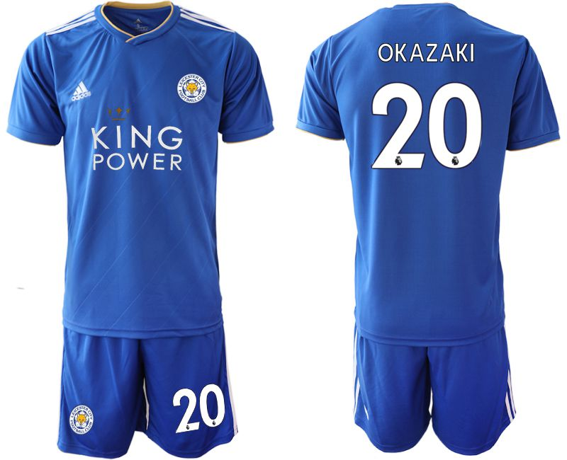 Men 2018-2019 club Leicester City home 20 blue soccer jersey
