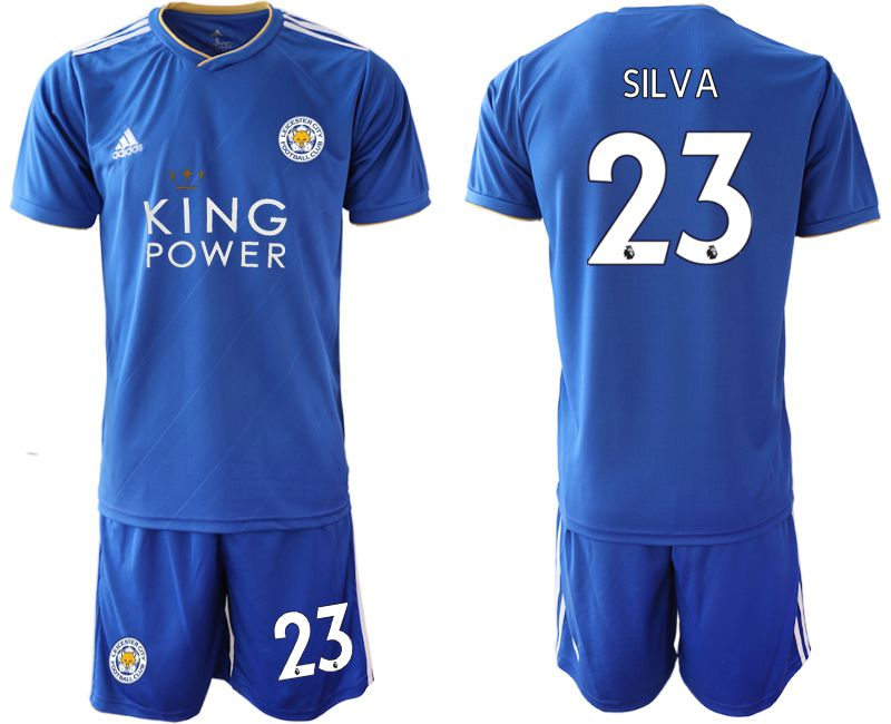 Men 2018-2019 club Leicester City home 23 blue soccer jersey