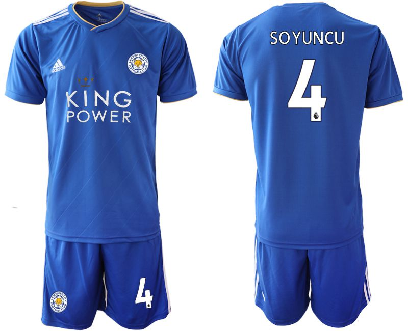 Men 2018-2019 club Leicester City home 4 blue Soccer Jerseys