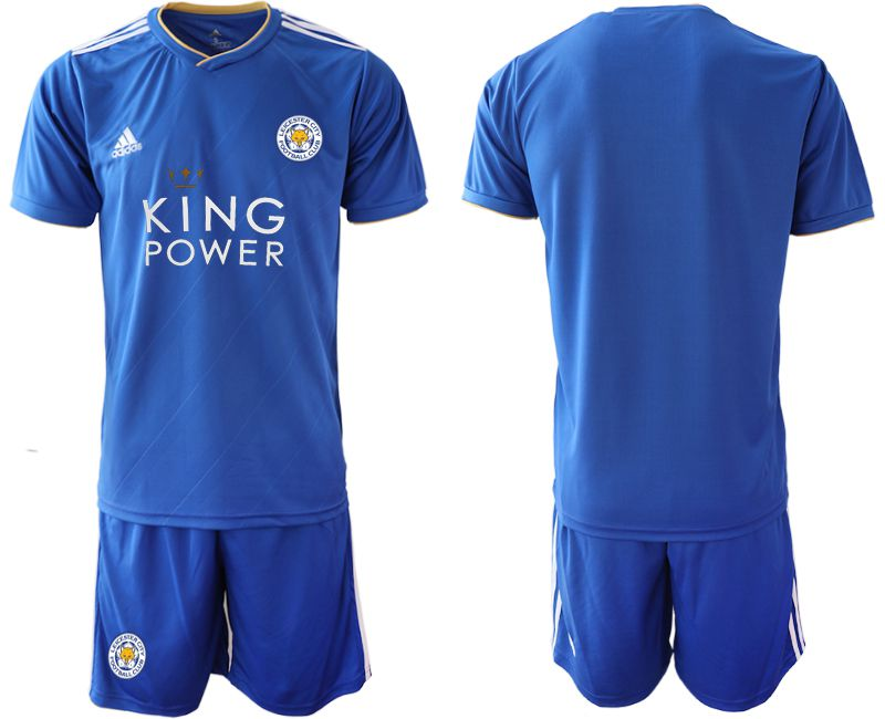 Men 2018-2019 club Leicester City home blue Soccer Jerseys
