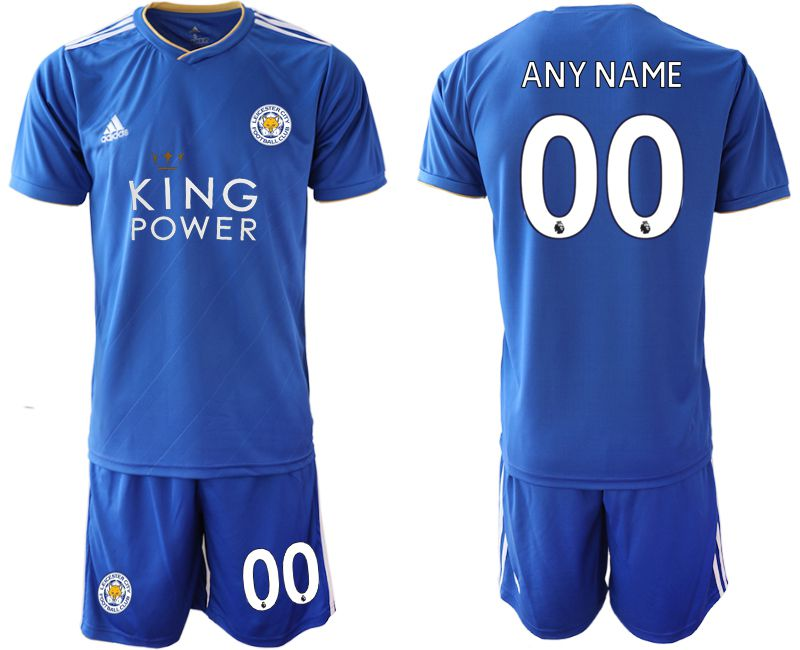Men 2018-2019 club Leicester City home customized blue Soccer Jerseys