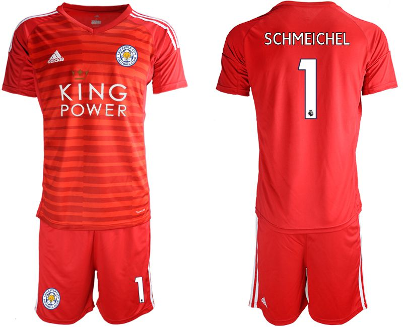Men 2018-2019 club Leicester City red goalkeeper 1 soccer jersey